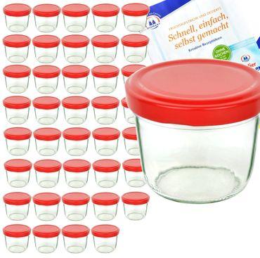 40er Set Sturzglas 230 ml To 82 Piros Deckel incl. Diamant Gelierzauber Rezeptheft – Bild 1