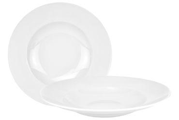 2er Set Pastateller Pasta-Bowl Wellco 30cm weiß, rund, porzellan