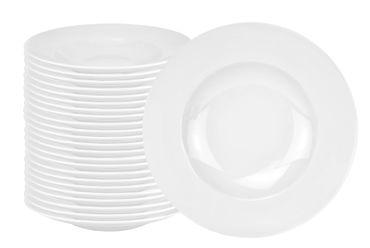 24er Set Pastateller Pasta-Bowl Wellco 30cm weiß, rund, porzellan