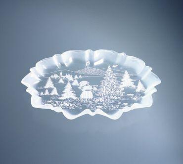 Weihnachtstraum Stollenplatte Walther Glas 44cm