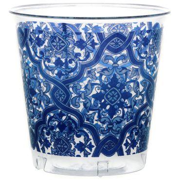 52-teiliges Set Einweggeschirr mit blauem Ranken-Motiv, für 16 Personen – Bild 3