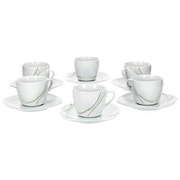 6er Set Kaffeetasse mit Kaffeeuntertasse Aliha  – Bild 1