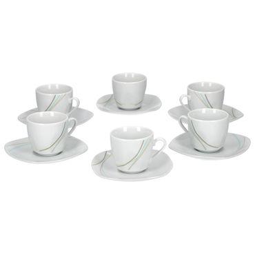 6er Set Espressotasse mit Espressountertasse Aliha  – Bild 1