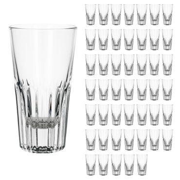 48er Set Rialtobecher Arosa 16cl Likörglas Whiskybecher mit Streifenrelief kristallklar