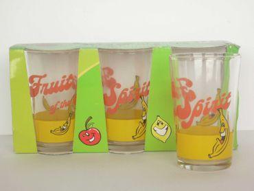 3er Set Saftglas Verrückte Früchte Banane 235ml
