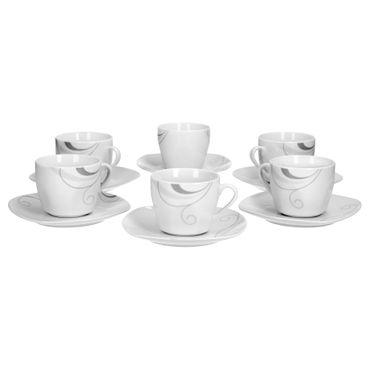 6er Set Kaffeetasse mit Kaffeeuntertasse Portofino – Bild 2