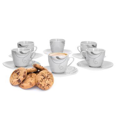 6er Set Espressotasse mit Espressountertasse Portofino – Bild 1