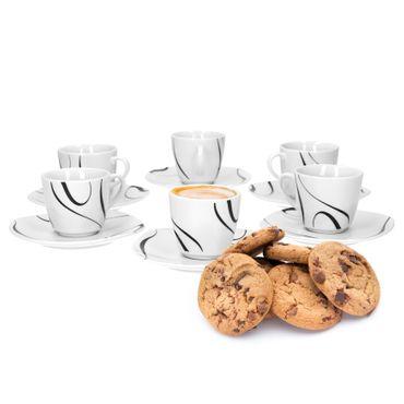 6er Set Espressotasse mit Espressountertasse Galaxy – Bild 1