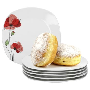 6er Set Dessert- Kuchenteller Monika 19cm – Bild 1