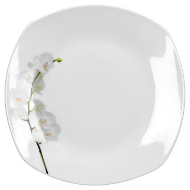 6er Set Dessert- Kuchenteller Vanda weiße Orchidee 19cm – Bild 2