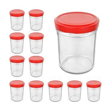 12er Set Sturzglas 435 ml To 82 Piros Deckel  – Bild 1