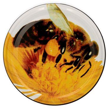10er Set Sturzglas 230 ml To 82 Deckel Biene / Albine incl. Diamant Gelierzauber Rezeptheft – Bild 3