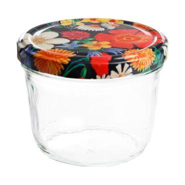 10er Set Sturzglas 230 ml To 82 Blumen Deckel Floare incl. Diamant Gelierzauber Rezeptheft – Bild 2