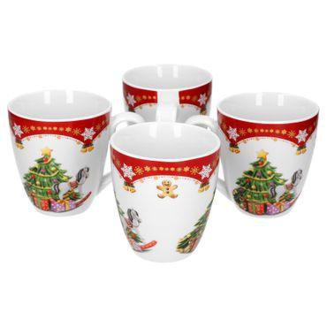 4er Set Kaffeebecher Weihnachtszauber 53cl – Bild 1