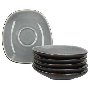 Van Well Elements | 6-tlg. Untertassen-Set für Kaffeetasse | edle Geschirr-Kollektion | glasiertes Steingut | 4 Farben  – Bild 5