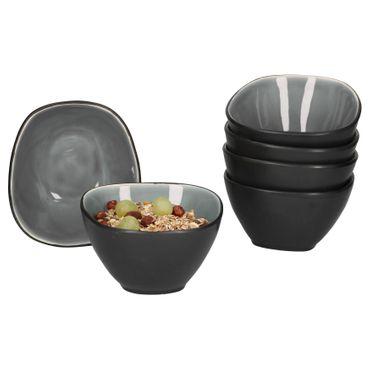 Van Well Elements 6-tlg. Müslischalen-Set | 650 ml | edle Geschirr-Kollektion | glasiertes Steingut | kleine Salat-Schalen | 4 Farben  – Bild 6