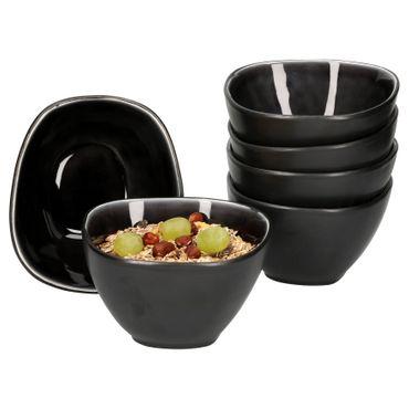Van Well Elements 6-tlg. Müslischalen-Set | 650 ml | edle Geschirr-Kollektion | glasiertes Steingut | kleine Salat-Schalen | 4 Farben  – Bild 1
