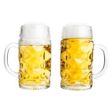 """2er Set Bierkrug """"Wellco"""" - 0,5 Liter aus Glas – Bild 1"""
