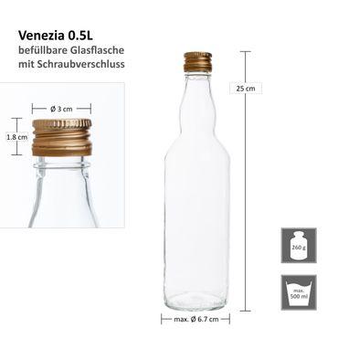 6er Set Van Well Flasche Venezia 0,5L – Bild 6