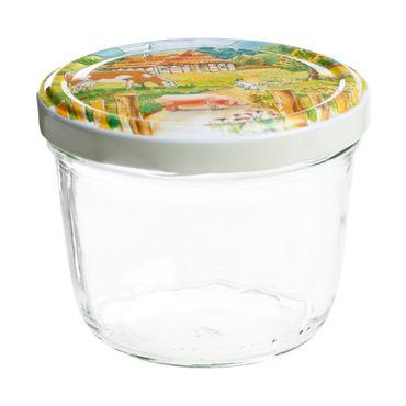 100er Set Sturzglas 230 ml To 82 Deckel Bauernhof / Ferma incl. Diamant Gelierzauber Rezeptheft – Bild 2