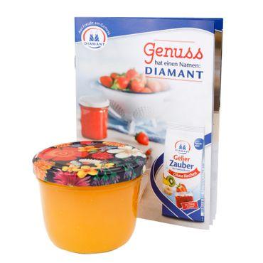 25er Set Sturzglas 230 ml To 82 Blumen Deckel Floare incl. Diamant Gelierzauber Rezeptheft – Bild 5