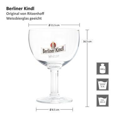 6er Set Ritzenhoff Berliner Kindl Weisse Pokal 0,3 Liter geeicht – Bild 7