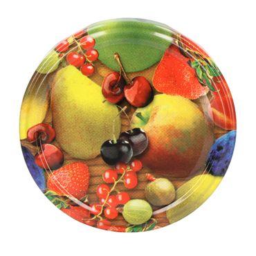 12er Set Sturzglas 435 ml To 82 Obst gelbe Birne Deckel incl. Diamant Gelierzauber Rezeptheft – Bild 3