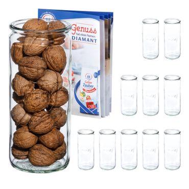 12er Set Weck Gläser 1040ml Zylinderglas