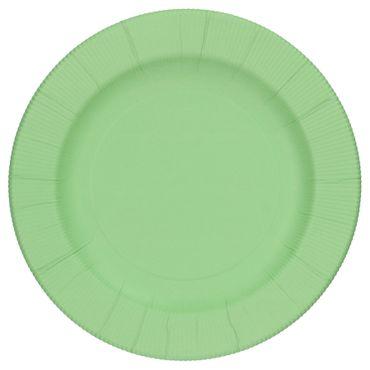 60-teiliges Set Einweggeschirr Pastell Grün matt, für 8 Personen - 241TSO + 243TSO + 71TSO + 07TSO + 8x Messer + 8x Gabel – Bild 2