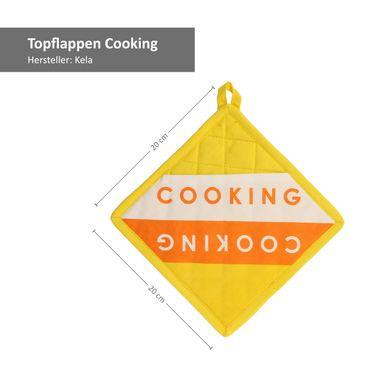 4er Set 2x Topfhandschuh + 2x Topflappen Madlene Cooking 100% Baumwolle - 11323 + 11324 – Bild 6