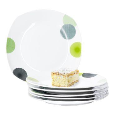 6er Set Dessert- Kuchenteller Rondo 19cm