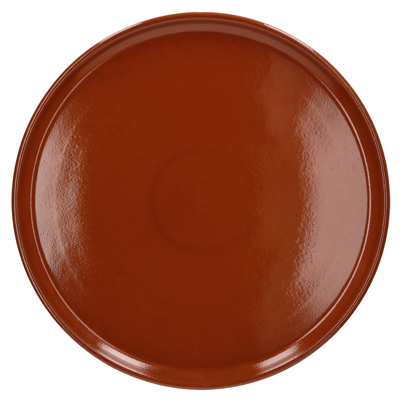 MamboCat 1 Pizza-Teller mit Motiven Nero schwarz /Ø 32cm I Teller rund mit Aufschrift in Rot und Wei/ß I Servierplatte I Vorspeisen-Teller I Pizza-Plate Kitchenware I Gastro-Zubeh/ör