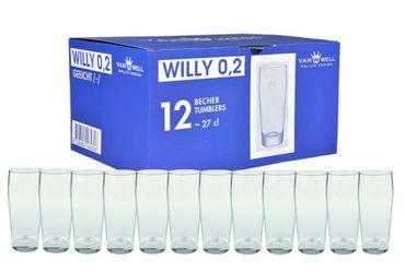 12er Set Bierglas Willibecher 0,2L geeicht