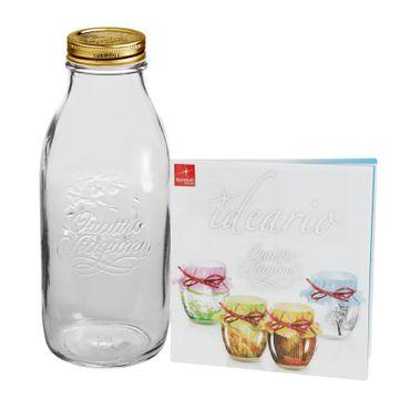 Einmachglas Original Quattro Stagioni 1,0L Flasche incl. Bormioli Rezeptheft – Bild 1