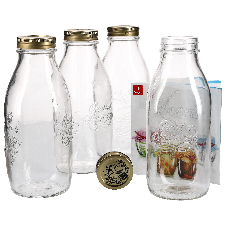 4er set einmachglas original quattro stagioni 1 0l flasche incl bormioli rezeptheft einmachen. Black Bedroom Furniture Sets. Home Design Ideas