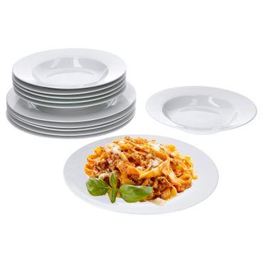 Tafelservice Trend 12tlg. für 6 Personen, 6 Speiseteller 27cm + 6 Suppenteller 23cm – Bild 1
