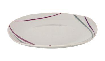 Tafelservice Caviano 12tlg. Porzellan weiß mit farbigem Dekor für 6 Personen – Bild 2
