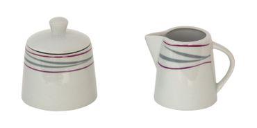 2tlg. Set Milchkännchen 22cl & Zuckerdose 26cl Caviano – Bild 1