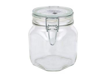 6er Set Einmachglas Bügelverschluss Original Fido 0,75L incl. Bormioli Rezeptheft – Bild 2