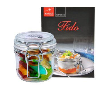 Einmachglas Bügelverschluss Original Fido 0,2L incl. Bormioli Rezeptheft – Bild 1
