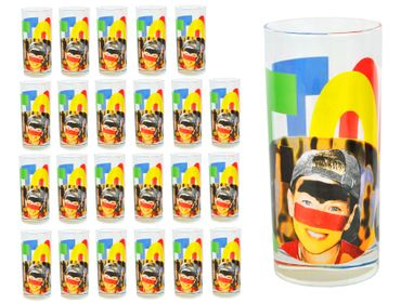 24er Set Wasserglas Face Tatoo – Bild 1