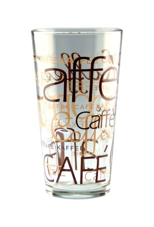 24er Set Latte Macchiato Glas 39cl stapelbar Coffee Dekor – Bild 2