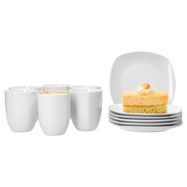 Frühstücksset 12tlg. Lilli für 6 Personen mit 6 Tellern und 6 Bechern – Bild 1