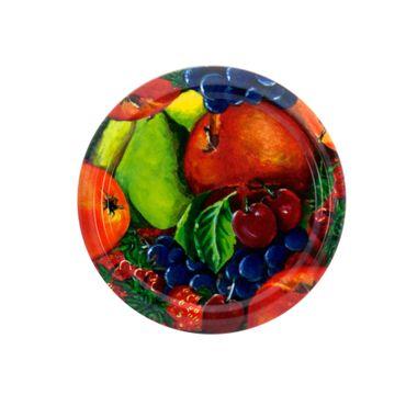 75er Set Sturzglas 125 ml Marmeladenglas Einmachglas Einweckglas To 66 Obst Dekor Deckel incl. Diamant-Zucker Gelierzauber Rezeptheft