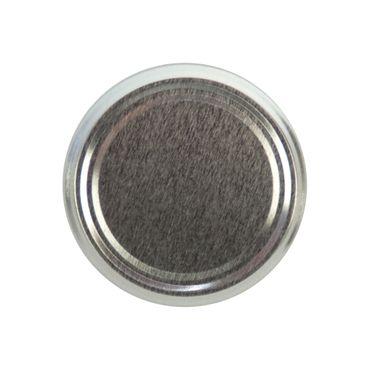 20er Set Deckel To 82 silber passend für 230ml / 350ml / 435ml Gläser incl. Diamant-Zucker Gelierzauber Rezeptheft – Bild 2