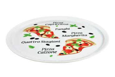 """12er Set Pizzateller Napoli & Margherita groß - 32cm Porzellan Teller mit schönem Motiv - für Pizza / Pasta, den """"großen Hunger"""" oder zum Anrichten geeignet – Bild 4"""