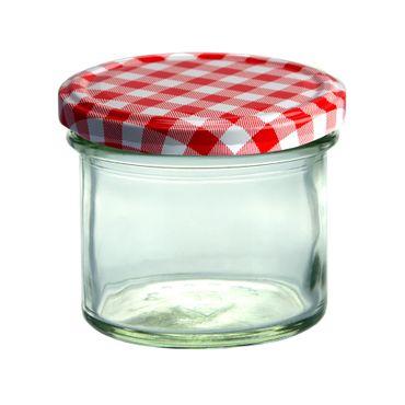 500er Set Sturzglas 125 ml Marmeladenglas Einmachglas Einweckglas To 66 rot karierter Deckel incl. Diamant-Zucker Gelierzauber Rezeptheft – Bild 2