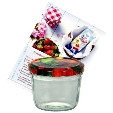 75er Set Sturzglas 230 ml Marmeladenglas Einmachglas Einweckglas To 82 Obst Deckel incl. Diamant-Zucker Gelierzauber Rezeptheft – Bild 2
