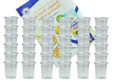 36er Set Weck Gläser 160 ml Sturzgläser incl. Diamant-Zucker Gelierzauber Rezeptheft – Bild 1