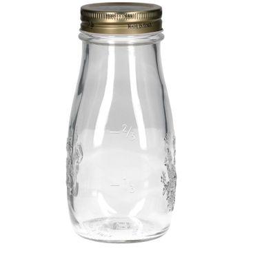 12er Set Quattro Stagioni Flasche 0,40l incl. Bormioli Rezeptheft - als Saft Smoothie Getränke Fläschchen, zur Dekoration oder als Einmachglas, Vorratsglas – Bild 4